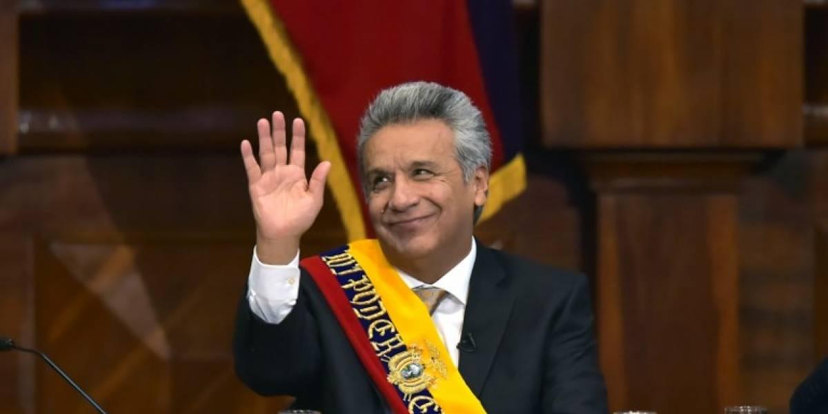 Lenín Moreno asume como el nuevo presidente de Ecuador