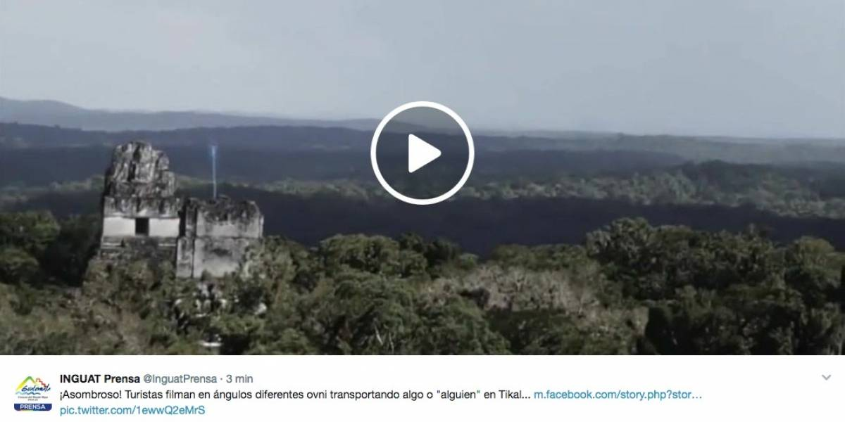 Inguat aclara que el video sobre un Ovni en Tikal es un montaje