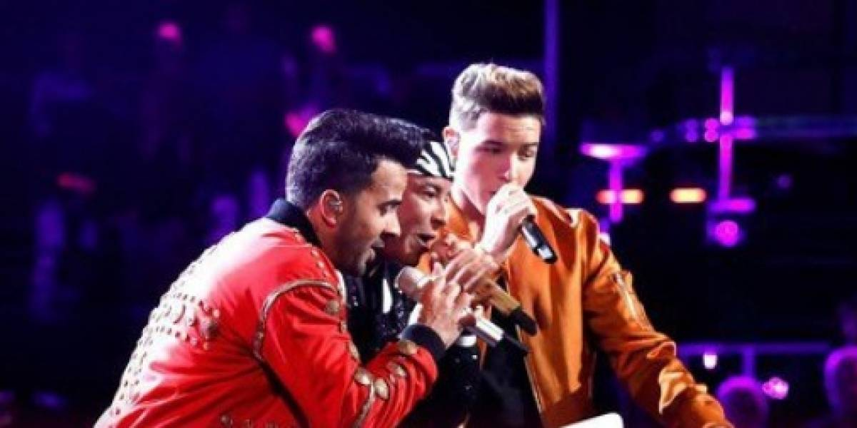 Luis Fonsi y Daddy Yankee la montaron con Despacito en la final de 'The Voice'