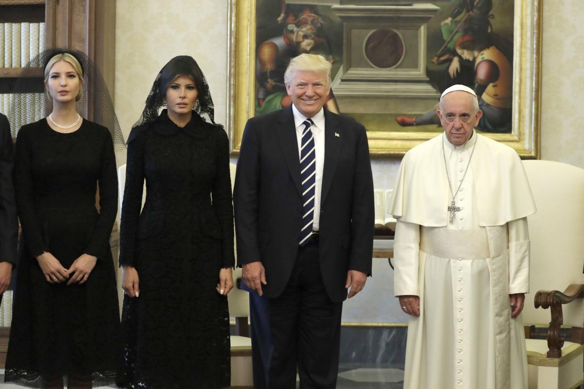 Reunión de Donald Trump con el Papa Francisco Foto: AP