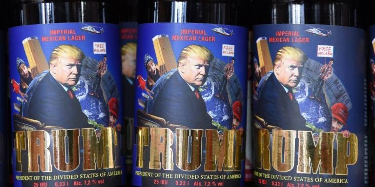"""""""Trump, el presidente de los divididos Estados Unidos de América"""" es el nombre de una nueva cerveza ucraniana"""