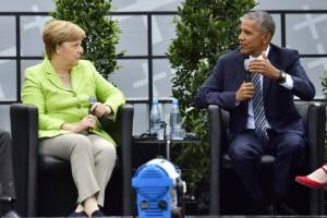 Angela Merkel y Barack Obama