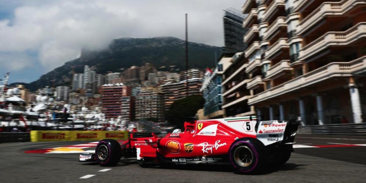 Vettel domina P2 en el GP de Mónaco; Checo es séptimo