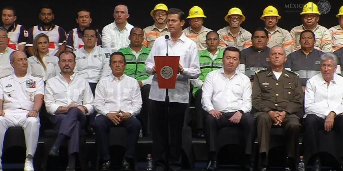 Acciones del Gobierno se evalúan en cada fenómeno natural: Peña Nieto