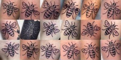 En Mánchester se tatúan abejas en recuerdo de las víctimas