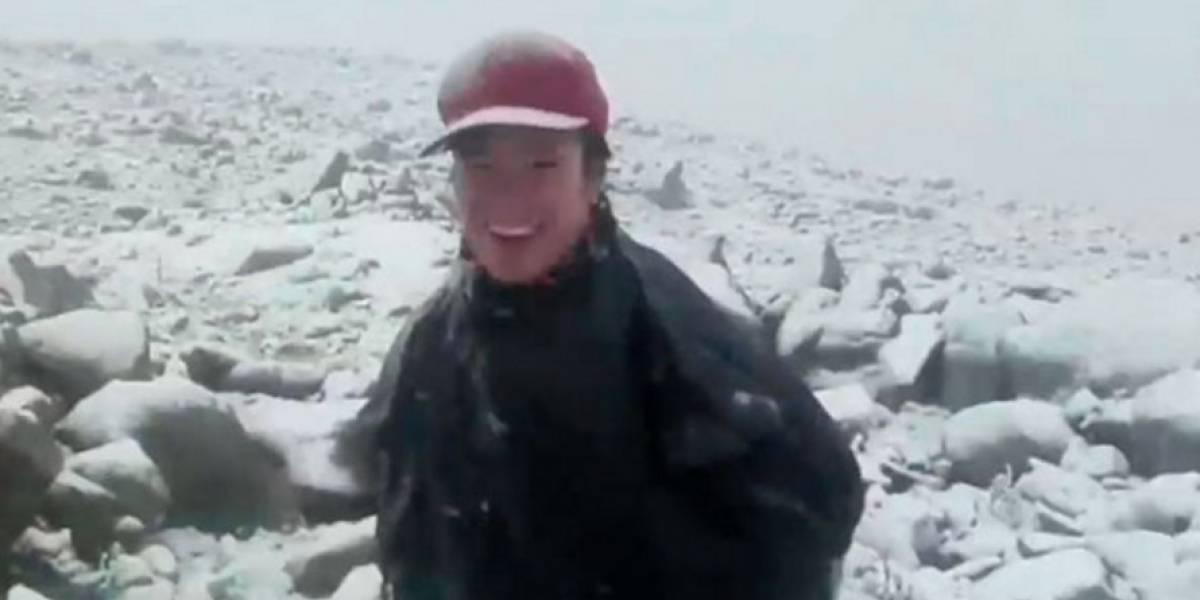 Video: Tormenta de nieve en Boyacá, campesinos y turistas están felices