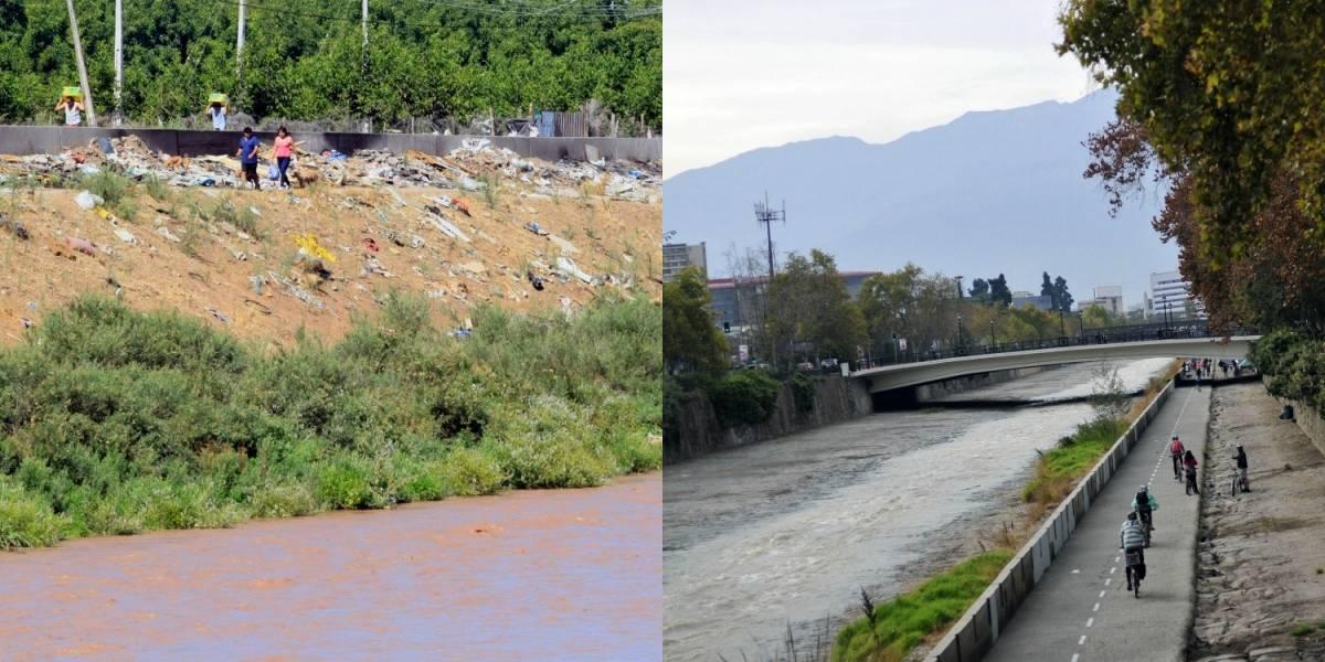 Las dos caras del Mapocho: la desigualdad golpea el río