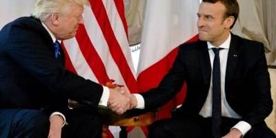 Los incómodos apretones de manos entre Trump y Macron