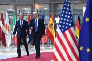 Donald Tusk y Donald Trump