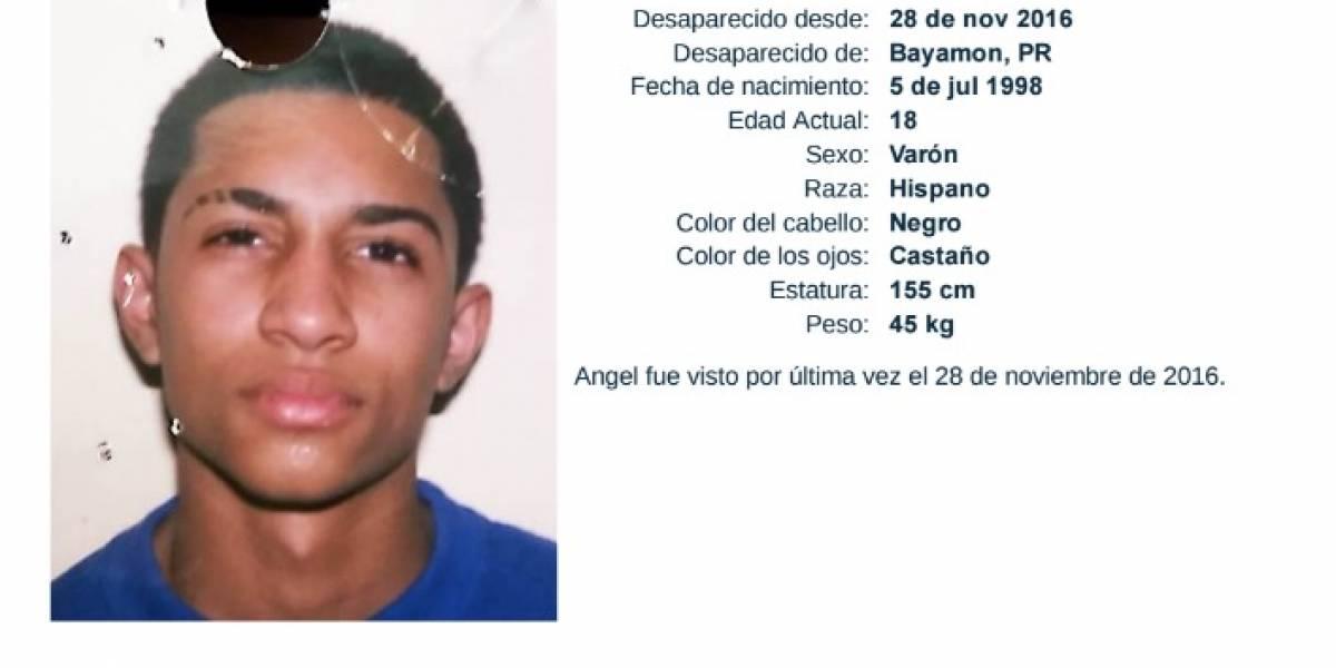 Reportan joven desaparecido en Bayamón