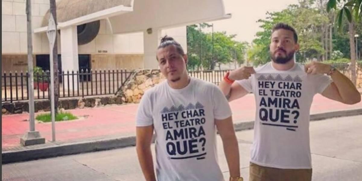 """""""Hey Char ¿el Teatro Amira qué?"""": jóvenes le piden al alcalde que se movilice por el bien cultural"""