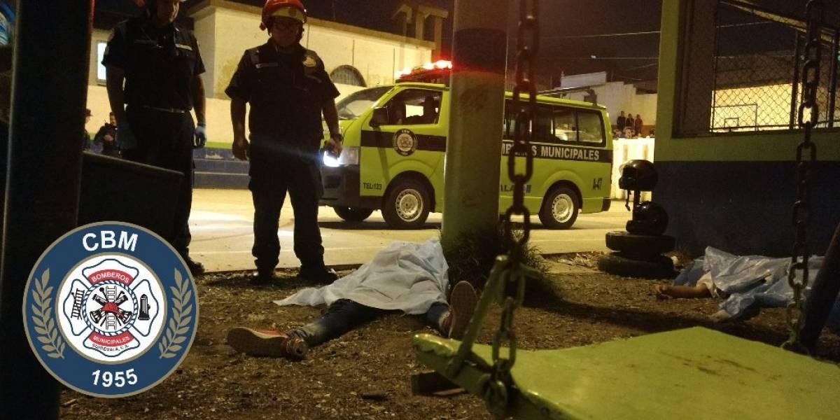 Tres muertos por arma de fuego en Las Brisas, zona 6 de Mixco