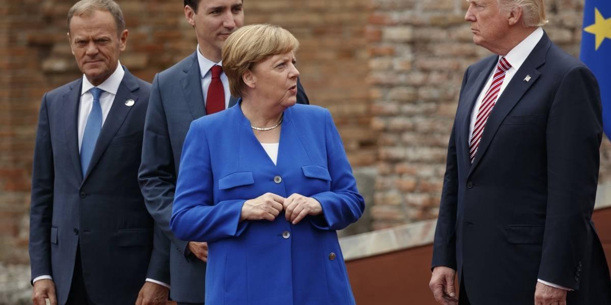 Trump va de frente contra comercio alemán en cumbre del G7