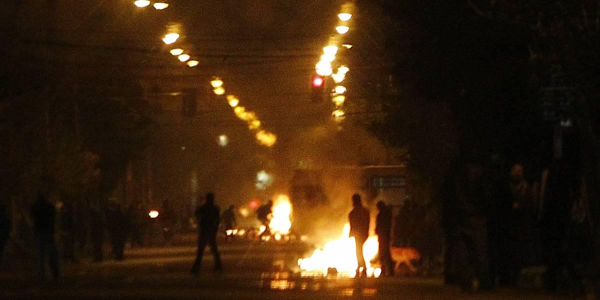 Bus del Transantiago es quemado en Estación Central