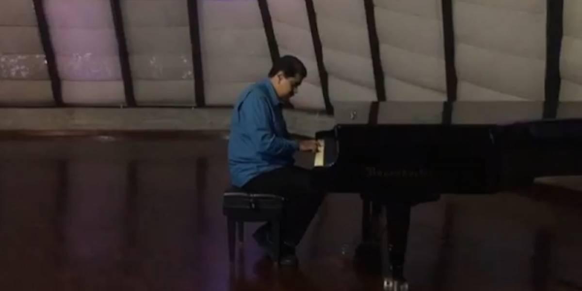 Nicolás Maduro rompe las redes sociales con concierto de piano
