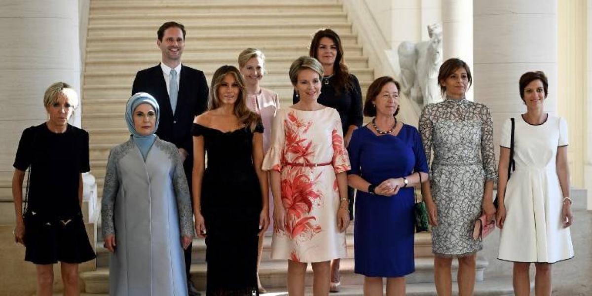 EN IMÁGENES. Esposo del primer ministro de Luxemburgo en foto oficial junto a primeras damas