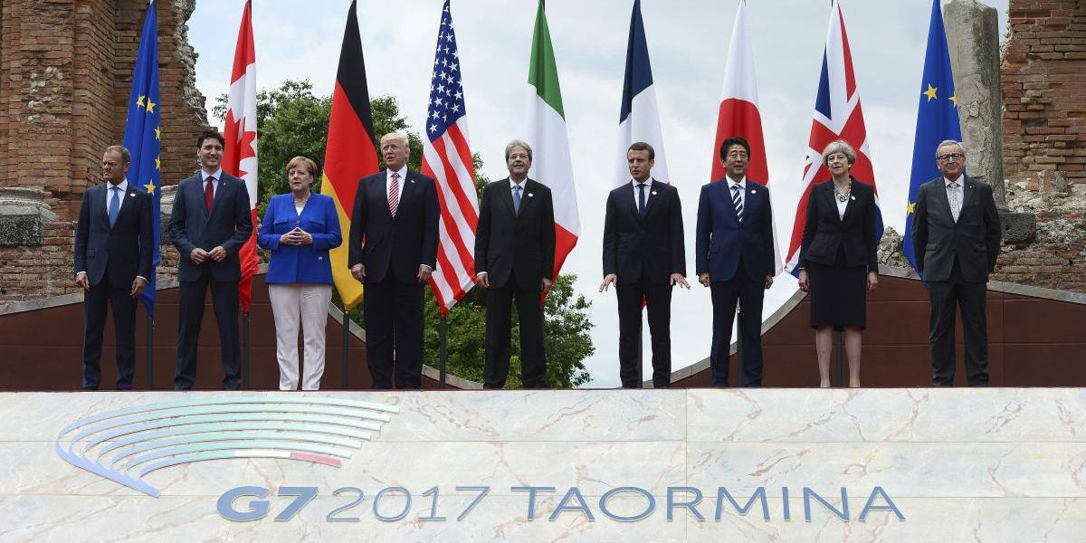 Trump se reúne con líderes del G7 tras reproches a la OTAN