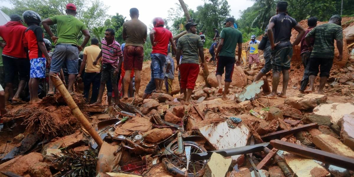 Avalanchas dejan 25 muertos en Sri Lanka