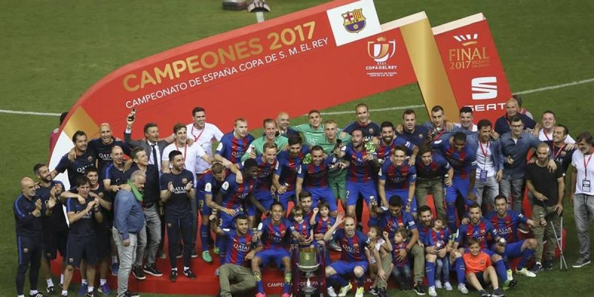 Barcelona no sufrió para vencer al Alavés y ganar la Copa del Rey