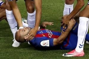 Mascherano sufre conmoción en la Final de Copa del Rey
