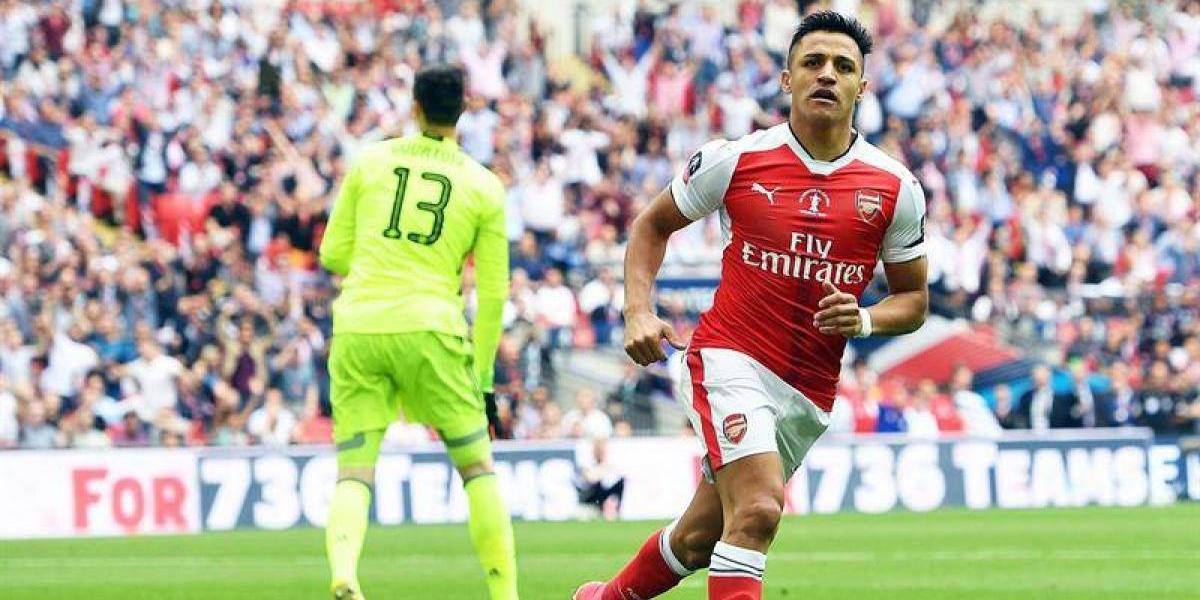 Alexis Sánchez sigue maravillando y anotó en la final de la FA Cup