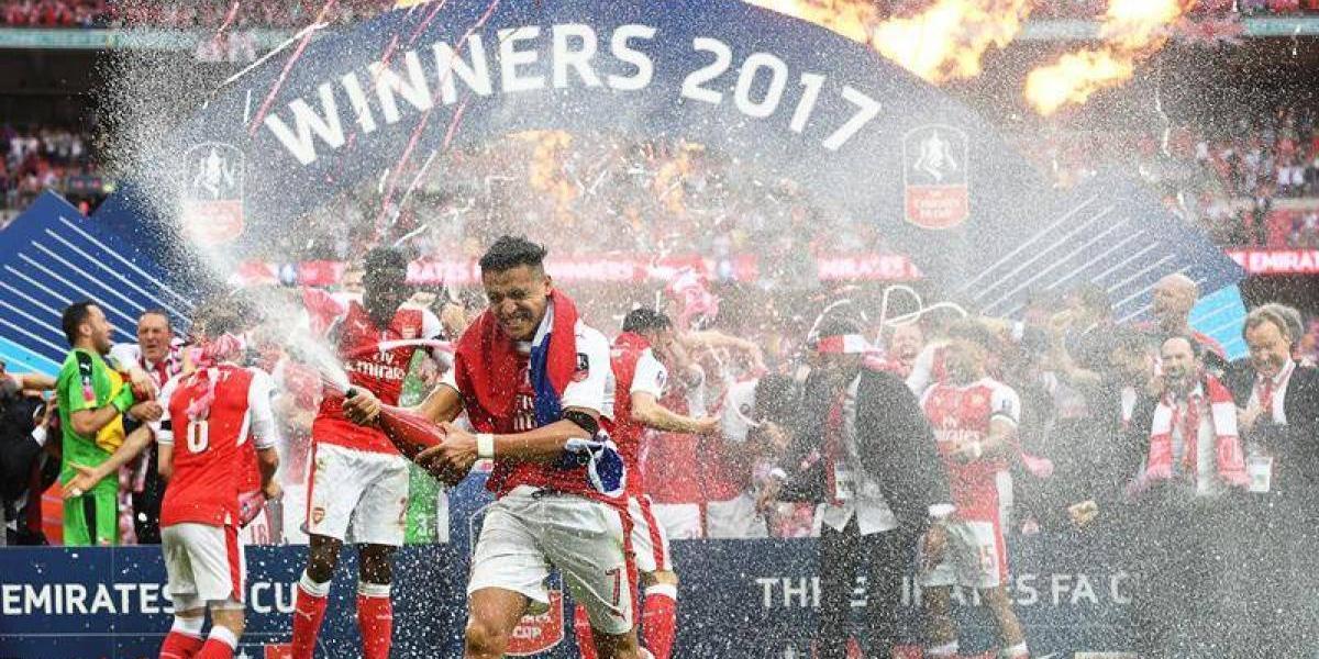 Alexis Sánchez comandó el título del Arsenal y anotó en la final de la FA Cup