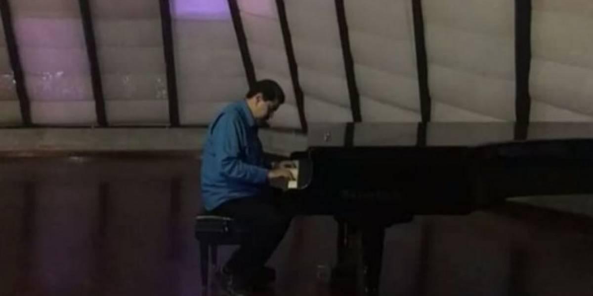 Presidente venezolano sube un video tocando el piano y así reaccionan las redes