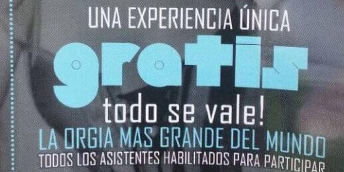 """Convocan a estudiantes a """"La orgía más grande del mundo"""" en Colombia"""