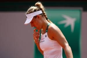 Angelique Kerber, número uno del mundo, quedó eliminada de Roland Garros
