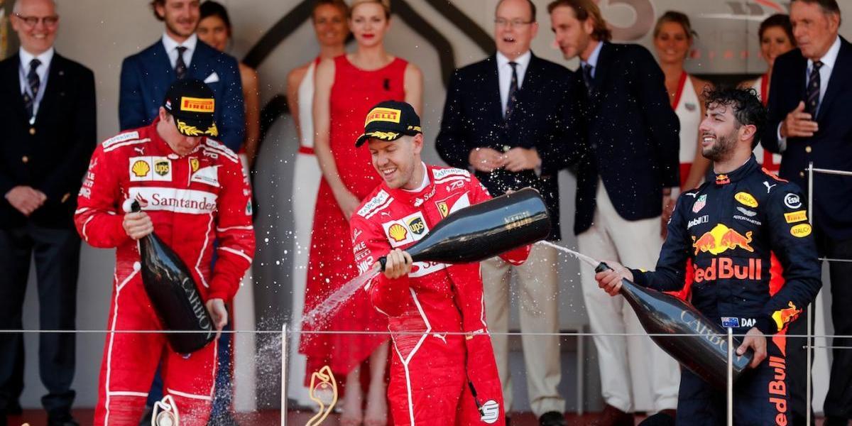 Vettel se corona en el GP de Mónaco; Checo corta racha positiva