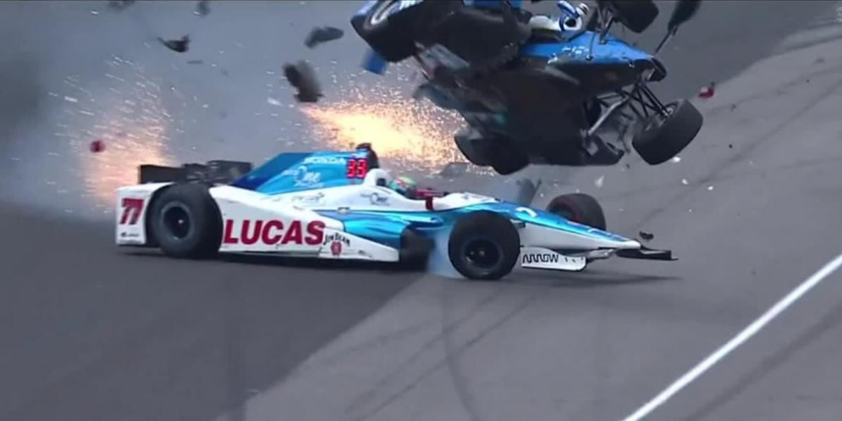 VIDEO: Aparatoso accidente en la Indy 500 ¡se salva de milagro!