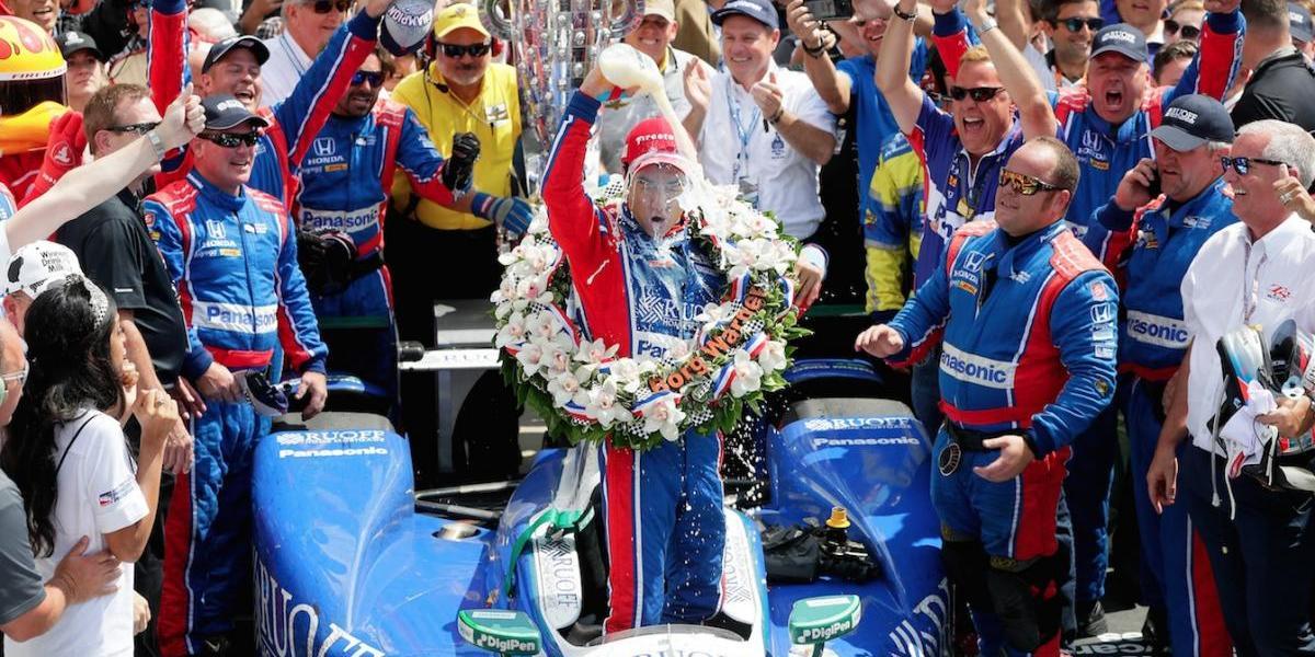 Takuma Sato, primer japonés que gana las 500 Millas de Indianápolis