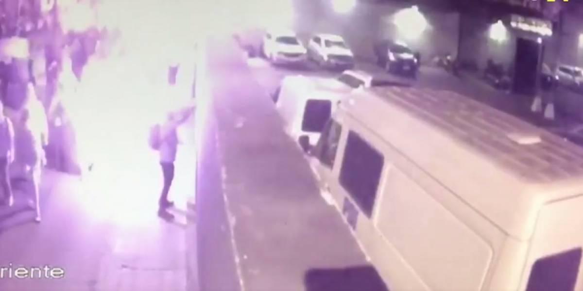 Anarquistas intentaron destruir cámaras de vigilancia al atacar cuartel de la PDI