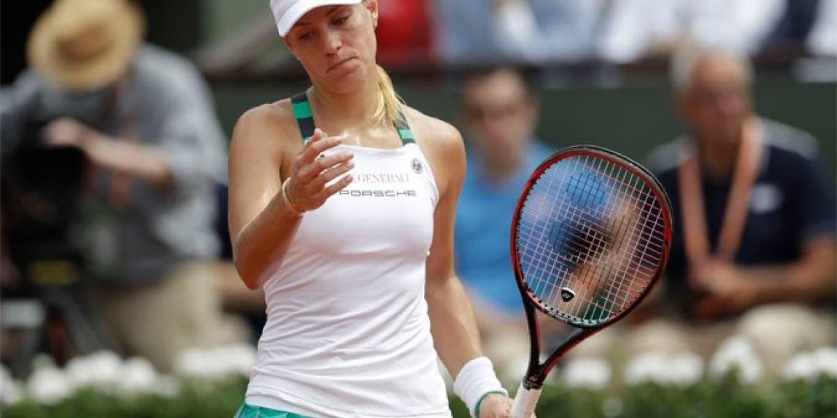 Kerber cae en primera ronda del Roland Garros