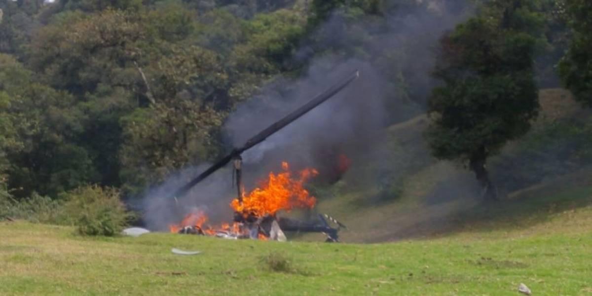 Se desploma helicóptero en Veracruz en el que viajaba vocero del PVEM