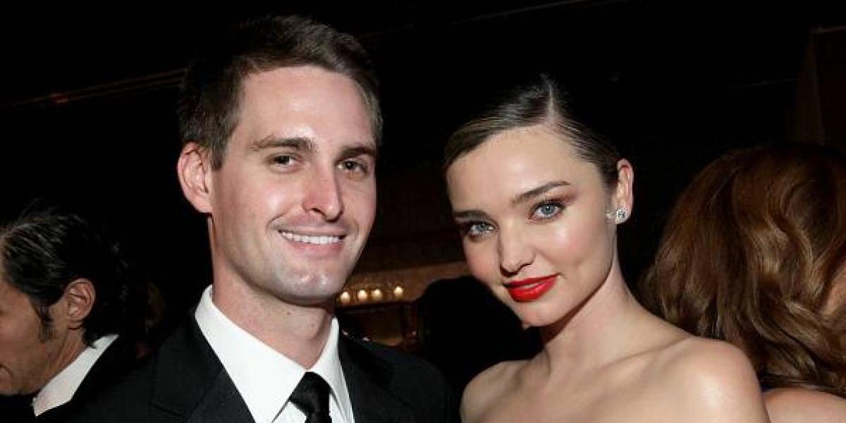 La modelo Miranda Kerr se casó con el creador de Snapchat