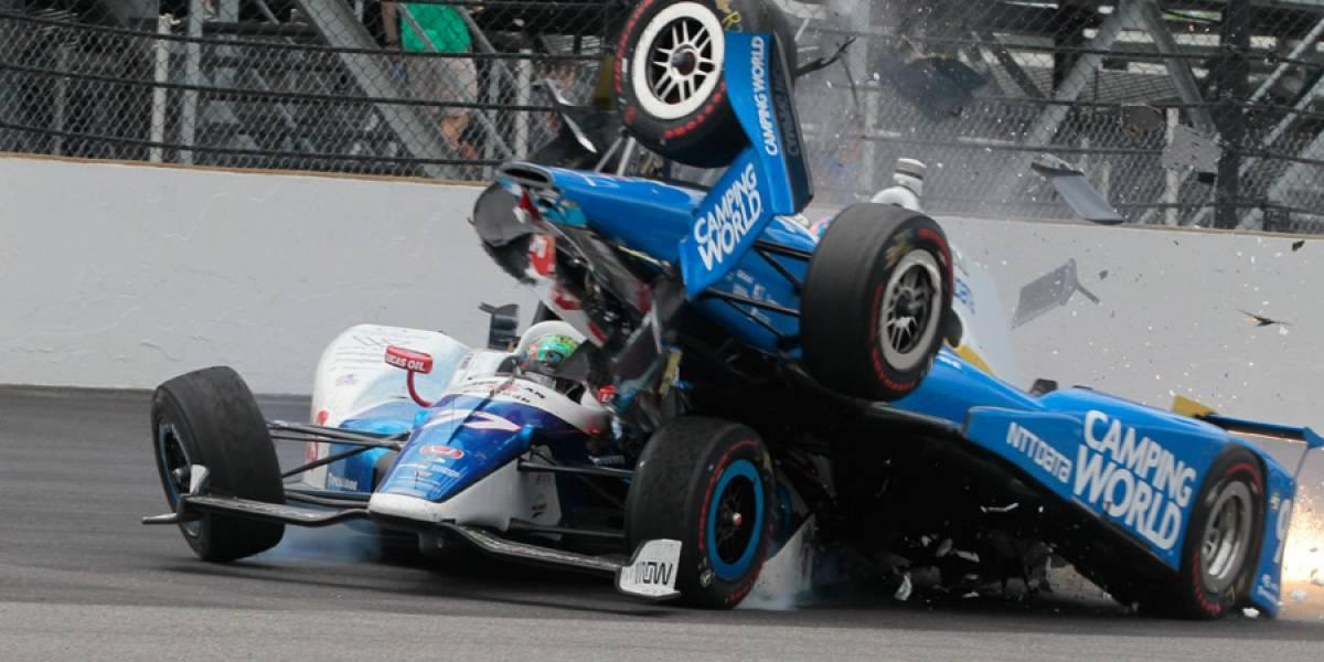 VIDEO. Scott Dixon fuera de Indianapolis 500 tras escalofriante accidente