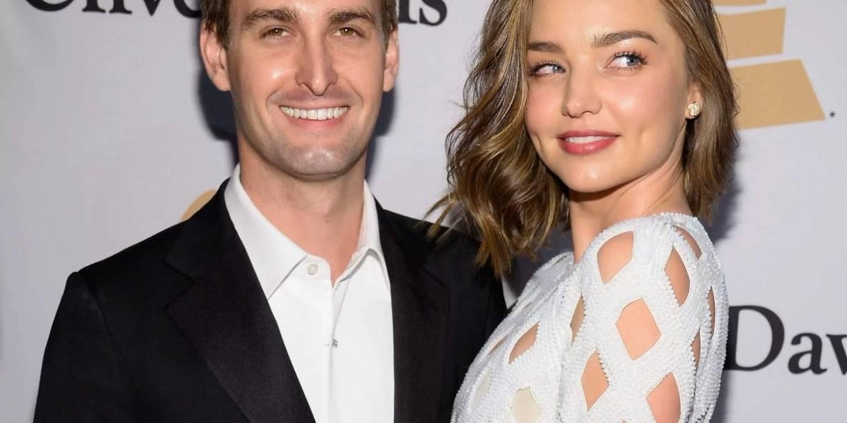 Miranda Kerr se casó con el creador de Snapchat