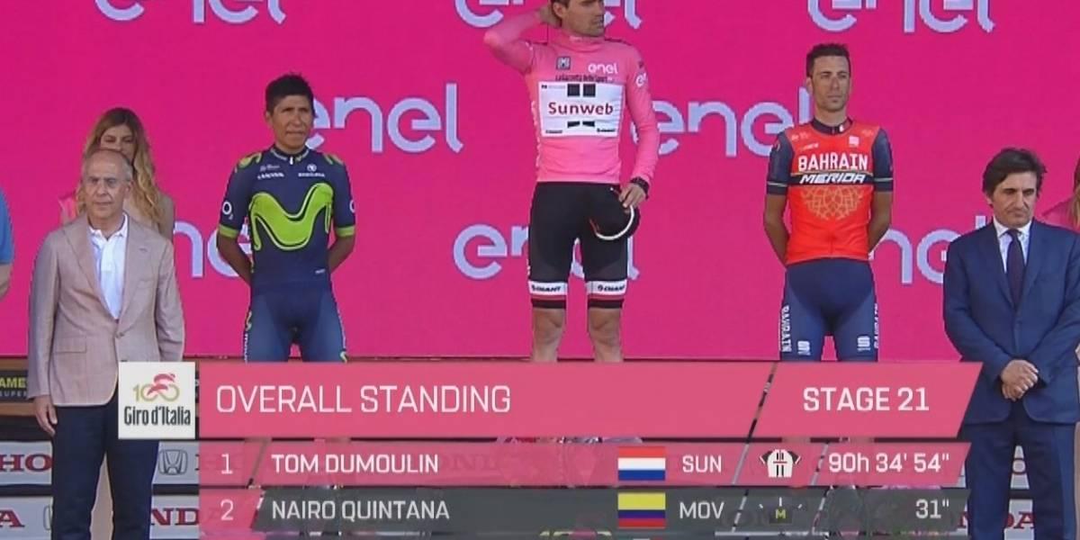 ¡Gracias, Nairo! Merecido podio de Quintana en el Giro de Italia