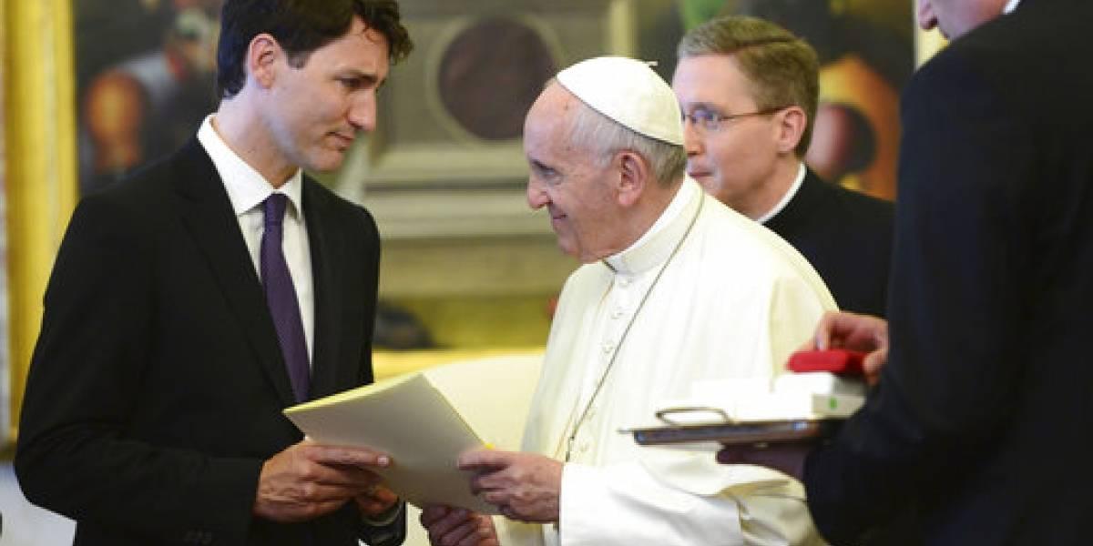 Papa Francisco se reúne por primera vez con Trudeau para hablar del G7