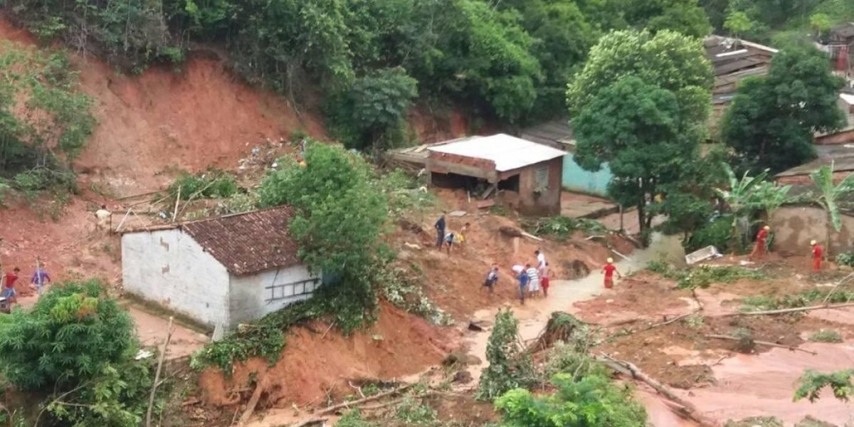 Seis muertos y miles de damnificados por fuertes lluvias en Brasil