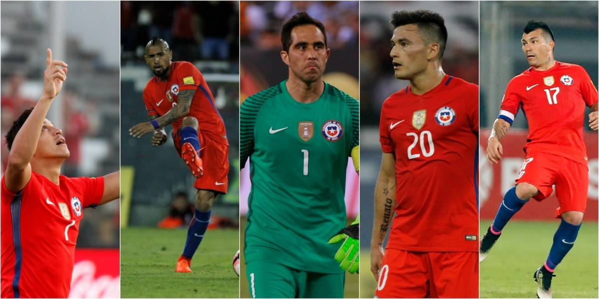Los números de los 5 pilares de la Roja que irán en búsqueda de la Copa Confederaciones