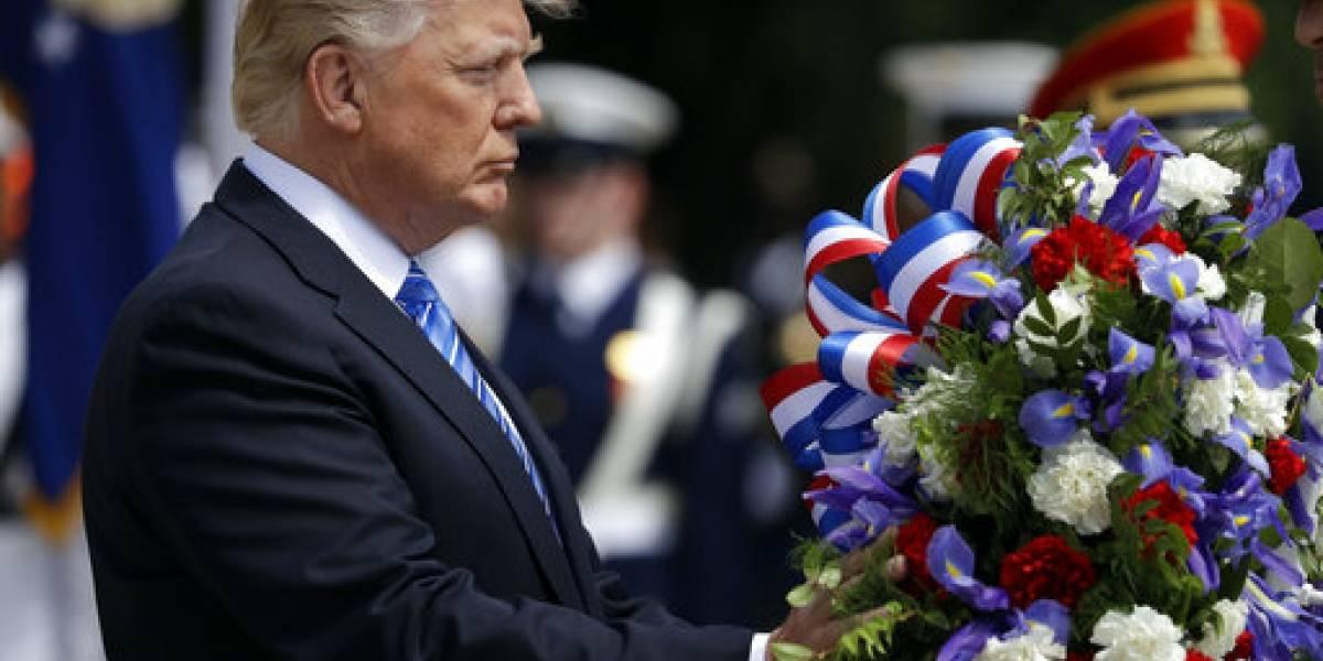 EN IMÁGENES. Trump conmemora su primer Memorial Day como presidente