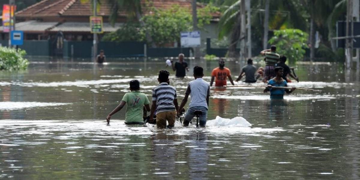 Inundaciones dejan más de 170 muertos en Sri Lanka