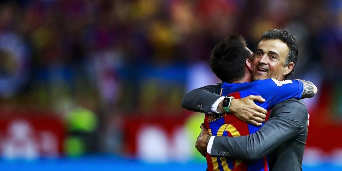 El emotivo mensaje de Messi a Luis Enrique