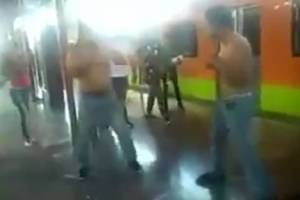 Vagoneros protagonizan pelea en anden de la Línea A del Metro