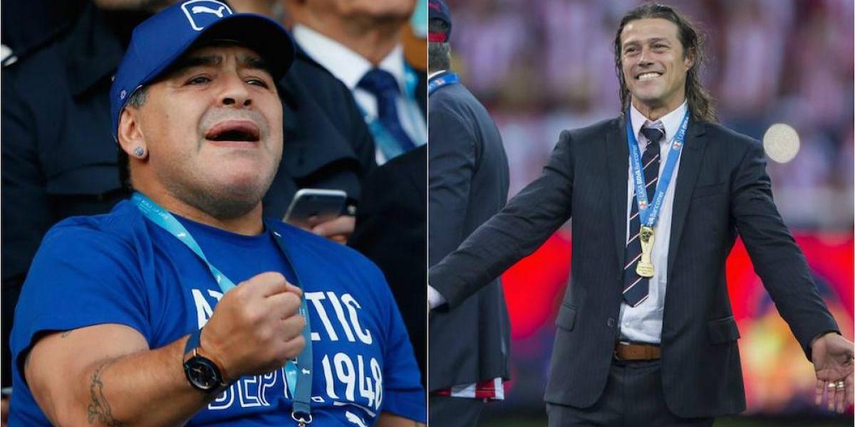 Diego Armando Maradona felicita a Matías Almeyda por salir campeón con Chivas