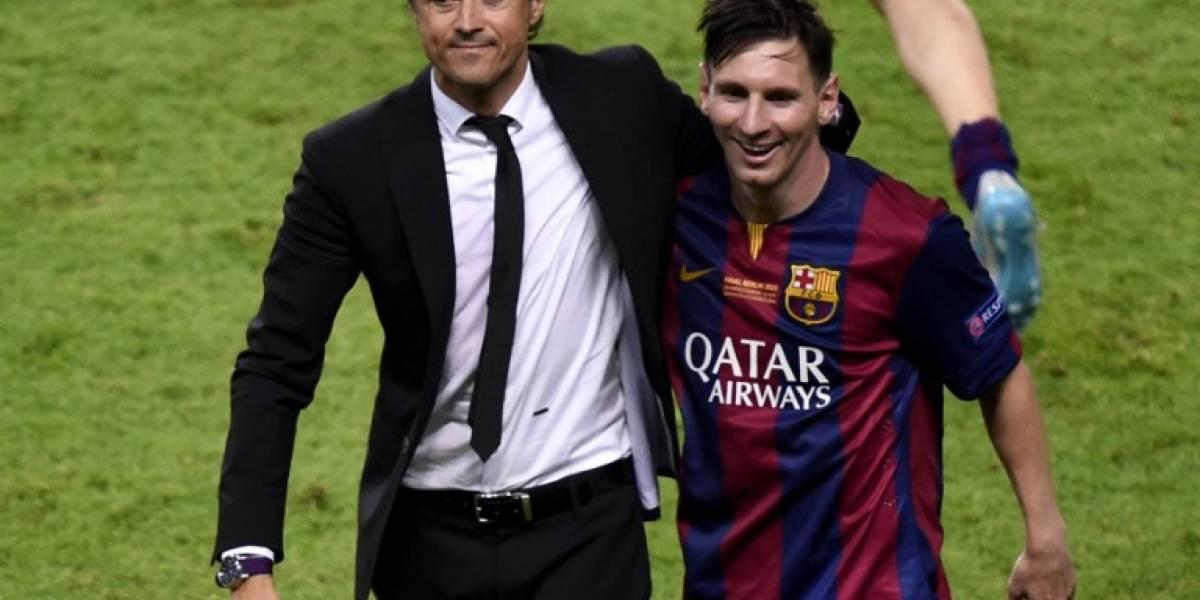 El emotivo mensaje de despedida de Messi para Luis Enrique