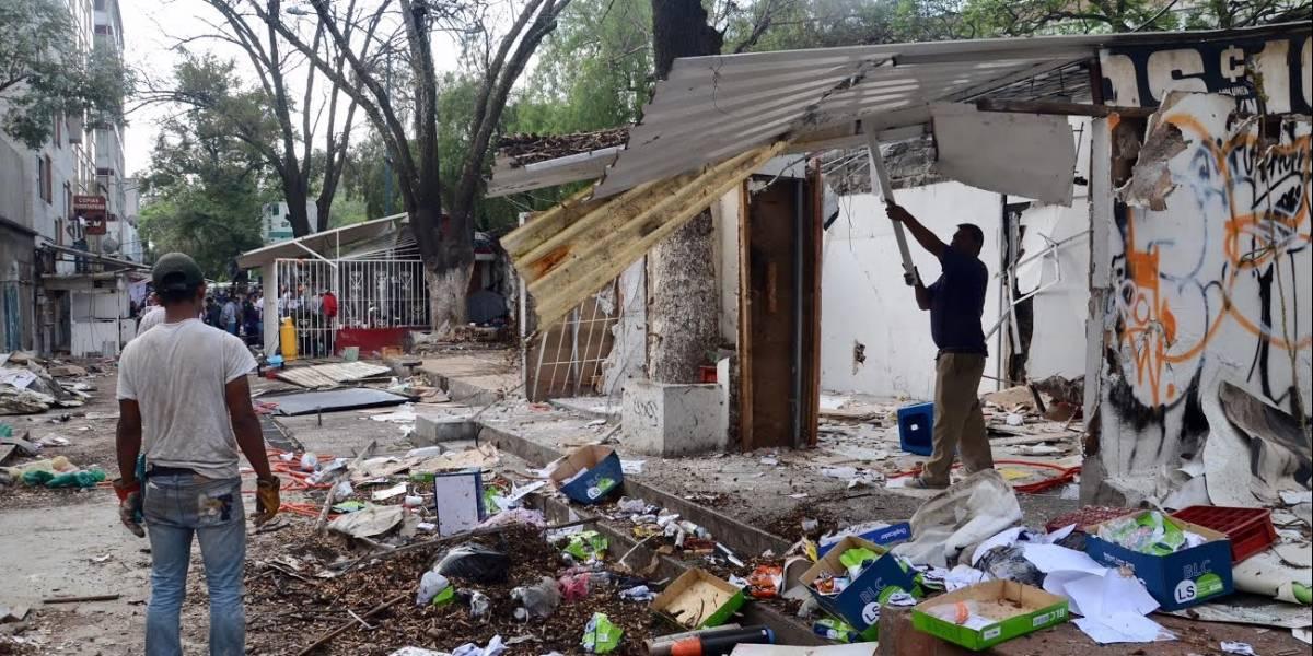 Desmantelan 'Paseo de la Salmonela' en la UNAM; renovarán