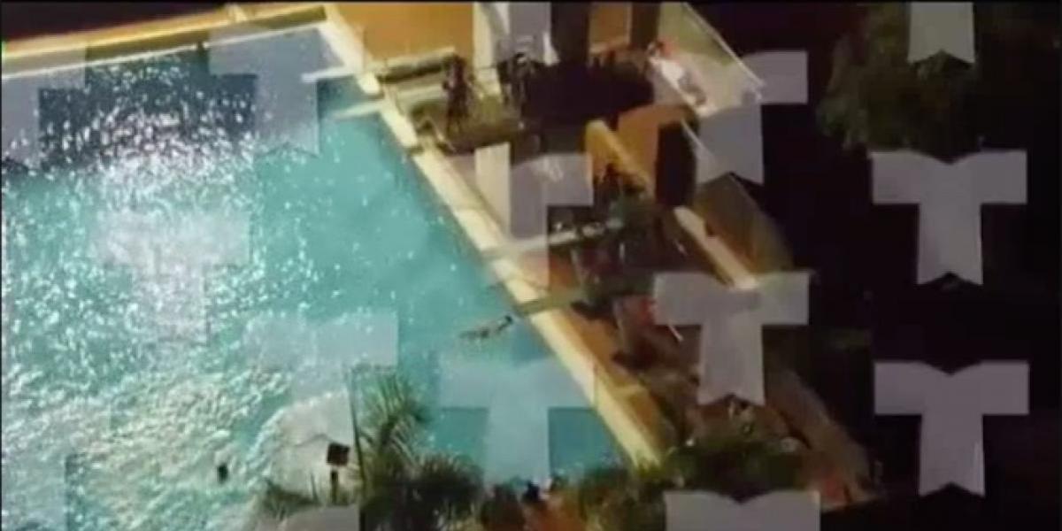 En medio de huelga hubo party en la piscina del Recinto de Río Piedras